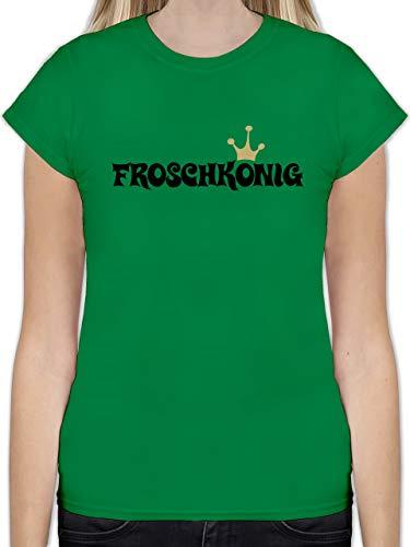 Karneval & Fasching - Froschkönig - XL - Grün - L191 - Tailliertes Tshirt für Damen und Frauen T-Shirt