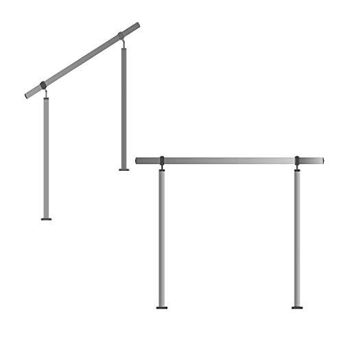 Edelstahl-Handlauf Geländer für Treppen Brüstung Balkon mit/ohne Querstreben (bis 1.5m inkl. 2 Pfosten ohne Querstange)