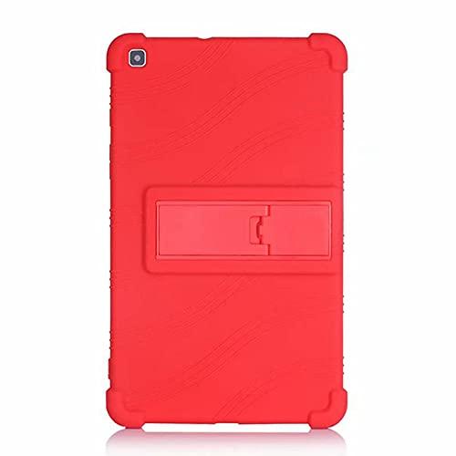 Funda para niños de Silicona Suave para la pestaña de Samsung Galaxy a 8.0 2019 SM-T290 SM-T295 SM-T297 Tableta Cubierta a Prueba de Golpes con pienstero-Rojo