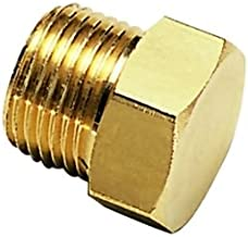 Parker 0125 12 00-pk5 Self-Fastening Barb Connector for NBR Hose, Brass, Metric Tube End Plug for Compression Fitting, M18X1.5, 12 mm (Pack of 5)