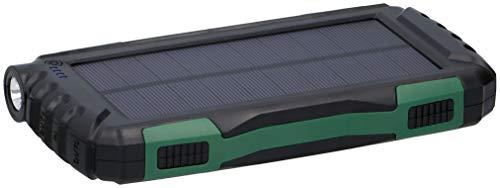 Soundlogic - Solar Powerbank - 20.000 mAh - Externer Akku für Handys - Dual USB - LED-Lich