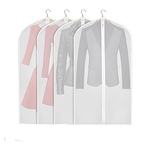 TIANHOO Hanging Clothes Cover, Hanging Garment Storage Bag, Cloth Covers...