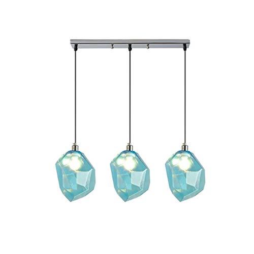 Couleur lampe de pierre lustre glace cristal verre salon lampe restaurant bar café (Couleur : Blue1)