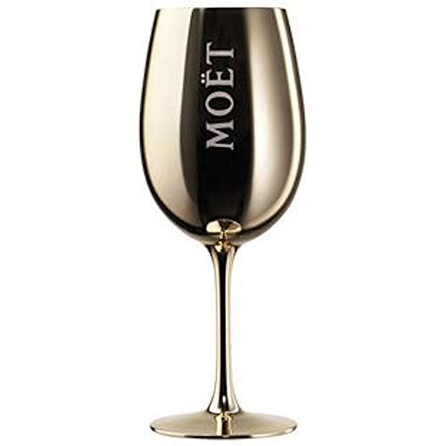Moët & Chandon Imperial Champagne Gold Golden Acryl Plastic Glass Goblet Flute