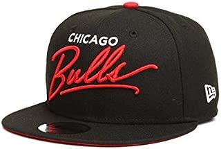 New Era Chicago Bulls Scripted Turn 9Fifty Snapback Cap Hat Black 11820748