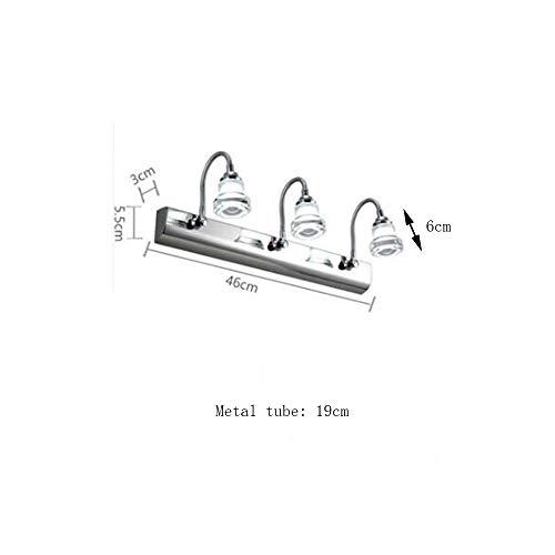NA hoofdbadkamer-spiegel-schijnwerper (lamp kan worden aangepast) Moderne eenvoudige geleid spiegel-frontlichten RVS spiegel kast-lamp badkamer toiletlamp wandlamp ingesloten