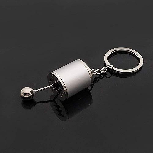 WANBAO Car Keychain Llavero KeyFOB Metal Metal Llaveros Titular de la Cintura Alloy Llavero Anillo Abierto Hebilla Coche Llavero Regalos para Mujeres Llavero (Color: Plata, Tamaño: Gratis)