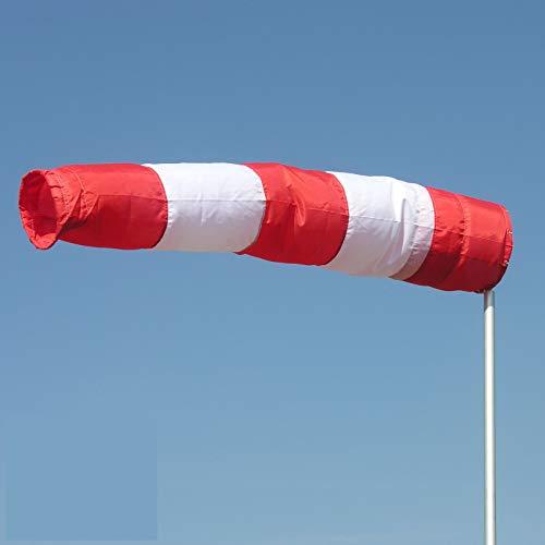 Schmidtler Windsack rot-weiß 40cm Durchmesser, 2,50 m lang