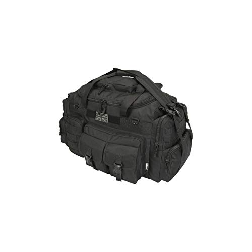 Kombat Tactical Saxon Holdall 50 Litre - Black Police Patrol Holdall Duffle Pack Security Special...