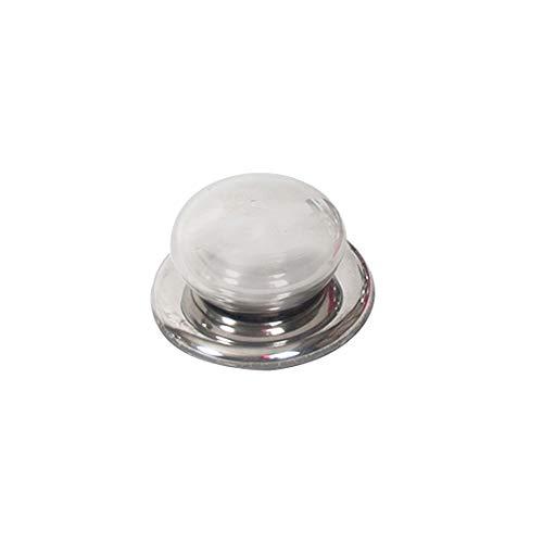 EUROXANTY Pomo para Tapa de Cocina | Pomo cocina | pomo de Repuesto | Pomo de Olla Universal | Pomo para Utensilios de Cocina | 6,5 cm de diámetro | 1 Unidad Plata