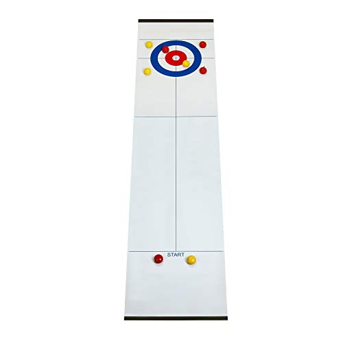 Buy Cheap GAMELAND Table Top Curling Game for Family Adults Kids, Indoor Compact Curling Board Game ...