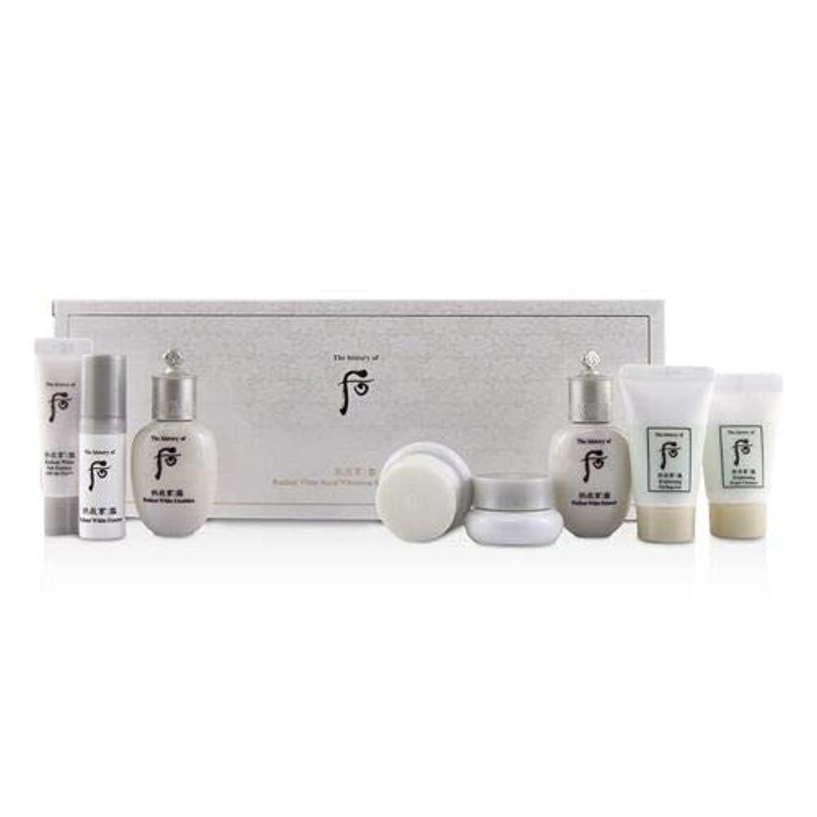測る後ろに食物后 (The History Of 后) Gongjinhyang Seol Radiant Whitening 8 pcs Gift Set: Balancer 20ml + Emulsion 20ml + Essence 5ml + Mo 8pcs並行輸入品