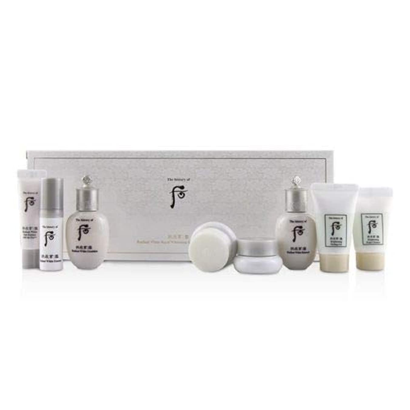 怠なそよ風公平な后 (The History Of 后) Gongjinhyang Seol Radiant Whitening 8 pcs Gift Set: Balancer 20ml + Emulsion 20ml + Essence 5ml + Mo 8pcs並行輸入品