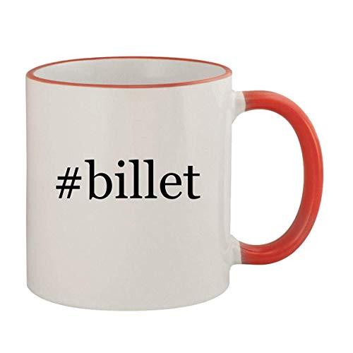 #billet - 11oz Ceramic Colored Rim & Handle Coffee Mug, Red
