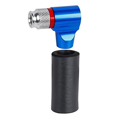 LULUVicky Bomba De Bicicleta Bomba De Bicicleta con Válvula CO2 AV/FV Mini Inflador De Bomba De Aire Portátil Sin Tanque De CO2 Adecuado para Bicicletas (Size:OneSize; Color:Blue)