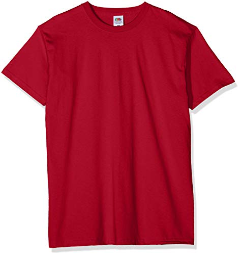 Fruit of the Loom Valueweight 5 Pack Camiseta, Rojo (Brick Red Bx), XX-Large (Talla del Fabricante: 2 X-L) (Pack de 5) para Hombre