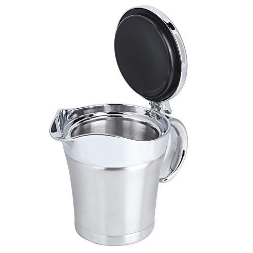 Ergonómico Salsa Bote, Maceta Cuerpo 450ml Perfecto Cocina Accesorio Cuarto de galón Cacerola con 304 Inoxidable Acero