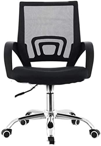 Tiua - Taburete giratorio para oficina, silla para computadora, en forma de arco, para conferencias, para el hogar, elevador hidráulico ajustable, silla giratoria de 360 ° (negro, se puede pedir a g
