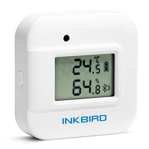 Inkbird Bluetooth温湿度計 温度計 湿度計 アラーム付き スマートセンサー グラフ表示 データロガー データのエクスポート iOS/Androidアプリで温度管理 爬虫類 温室 ヒュミドール ワインセラー IBS-TH2 PLUS(温度プロ
