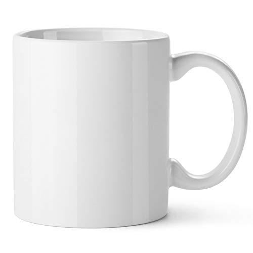 Pack de 36 Tazas de cerámica Blancas Calidad De Luxe (AAA) | Ideales para ser Impresas Mediante la sublimación | 36 Unidades | Calidad AAA