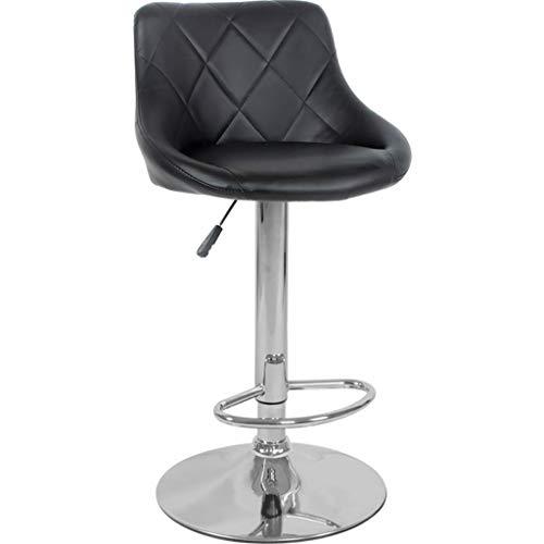 JPL Bar,Cafe,Restaurant Chair,Lifting and Rotating Breakfast Bar Stool, Bar Chair High Chair, Chrome Footrest Height Adjustable 58-78Cm, Kitchen Counter Bar,White