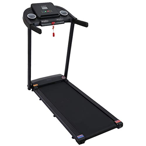 TEEGUI 2.5HP Under Desk Electric Treadmill, 2 in 1 Folding Treadmill with Device Holder, Installation-Free with Bluetooth Speaker, Walking Jogging for Home,Office & Gym