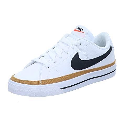 Nike Court Legacy, Zapatillas Mujer, Blanco y Negro, 44 EU