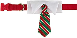 Merry & Bright Holiday Tie Adjustable Dog Collar~X-Small~