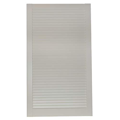 1-er Pack/Ein Stück Lamellentüren weiß seidenmatt mit geschlossenen Lamellen Kiefernholz 993 x 594 x 21 mm für Regale, Schränke, Möbel - EINBAUFERTIG grundiert & lackiert