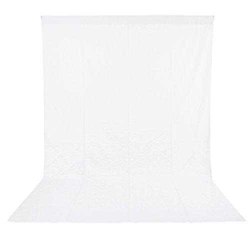 Neewer 6 x 9FT / 1,8 x 2,8 M Fotostudio 100% reines Muslin Faltbare Hintergrund weiß