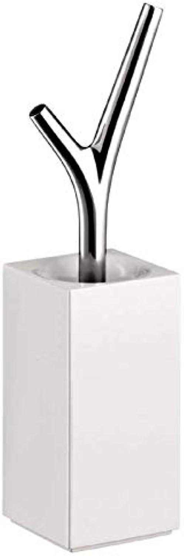 Hansgrohe 42235000 Toilettenbürstengarnit Massaud mit Bürstengriff und Behlter, wei