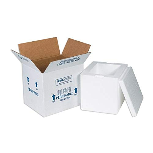 BOX USA B207C Insulated Shipping Kits, 8' x 6' x 7', White (Pack of 8)
