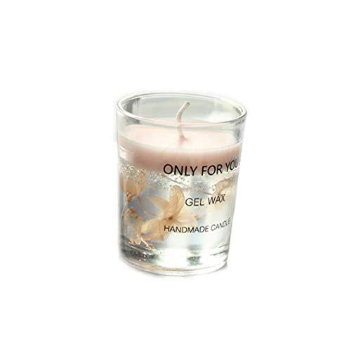 XYQB Aromatherapie Romantische Kerze Tasse, Kreative Trockenblume Ätherisches Öl Soja Kerze Geschenkbox Mädchen Geschenk Souvenir