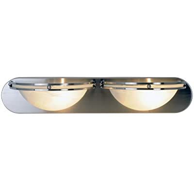 Monument 617607 Contemporary Lighting Collection Vanity Fixture, Brushed Nickel, 24-Inch W by 4-5/8-Inch H by 6-Inch E