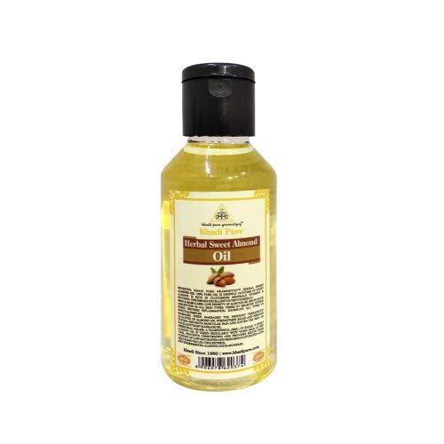 Khadi Pure Herbal Sweet Almond Oil for Normal Skin, 100 ml