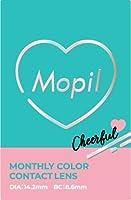 Mopil モピル マンスリー 【カラー】チョコブラウン 【DIA】14.2mm 【PWR】-5.00 1枚入 1箱