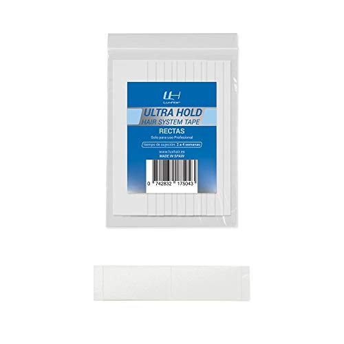 LuxHair Ultra Hold Haarvervangingstapes - Haarvervanging | Haarstickers en lijmen | Dubbelzijdige haarkleefstoffen | Onderhoud en plaatsingsproducten (Recta's - 36 eenheden)