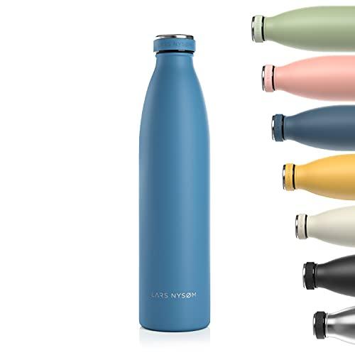 borraccia termica 1 litro acciaio inox Lars NYSØM Borraccia Termica 1 litro in Acciaio Inox   Bottiglia isolata Senza BPA 1000ml   Bottiglia d'Acqua a Tenuta stagna per Sport