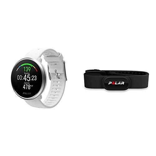 Polar Ignite – wasserdichte GPS-Fitnessuhr mit optischer Pulsmessung am Handgelenk und Trainingsanleitungen – Unisex & H10 Herzfrequenz-Sensor, Schwarz, M-XXL, Unisex, ANT+, Bluetooth, EKG