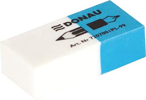DONAU 7307001PL-99 Radiergummi/ Radierer für Bleistifte und Kugelschreiber aus Hochwertigem Thermoplastischem Kautschukhergestellt Beideseitig Verwendbar/ PVC, Phthalaten Frei Latexfrei / 41x18x11mm/