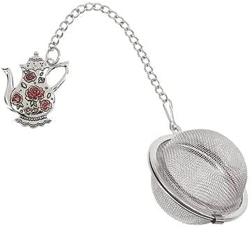 Ganz Max 72% OFF Pink Roses Teapot Charming National products with Tea Infuser Enameling