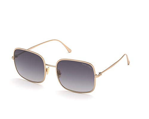 Tom Ford Gafas de Sol KEIRA FT 0865 Shiny Rose Gold/Grey Shaded 58/20/140 mujer