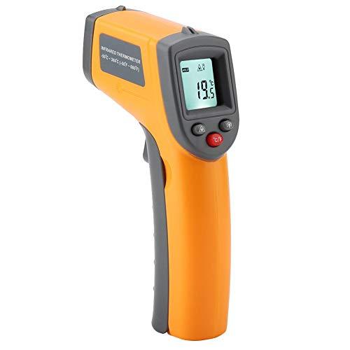 Termómetro IR, GS320 Pantalla LCD sin contacto Termómetro infrarrojo digital de mano Medidor de temperatura de -50 meter -360 ℃ Termómetro de mano