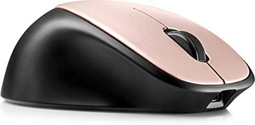 HP ENVY 500 (2WX69AA) kabellose Maus (wiederaufladbar, 1.600 dpi, Akkulaufzeit bi zu 11 Wochen, 3 Tasten, Scrollrad, USB dongle) schwarz / rosé gold