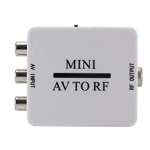 SNOWINSPRING Scatola di Convertitori Video HD Rca Cvsb AV un Rf 67,25 Mhz 61,25 Mhz Adattatore Video, AV per Amplificatore RF Switcher TV