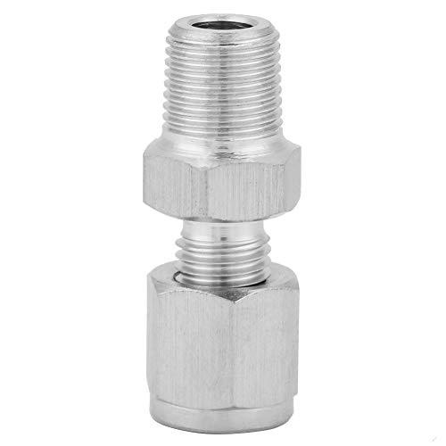 Rohrverschraubung - Edelstahl SS304 Rohrverschraubung 1/8NPT Außengewindeadapter für Wasser Öl Gas(1/8-3)