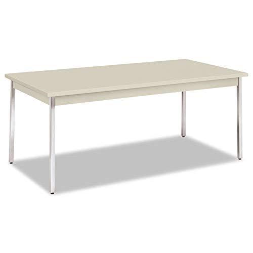 HON Utility Table with Chrome Leg Finish 72 x 36 Light Gray