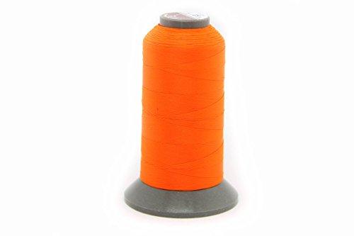 NTS Nähtechnik | Filo per cucire in pelle, 1000 m, 40 N, Orange Luminescent