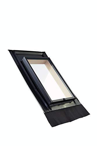 Roto Dachausstiegsfenster WDL R27 H für Kaltdach inklusive Eindeckrahmen (45 x 73)