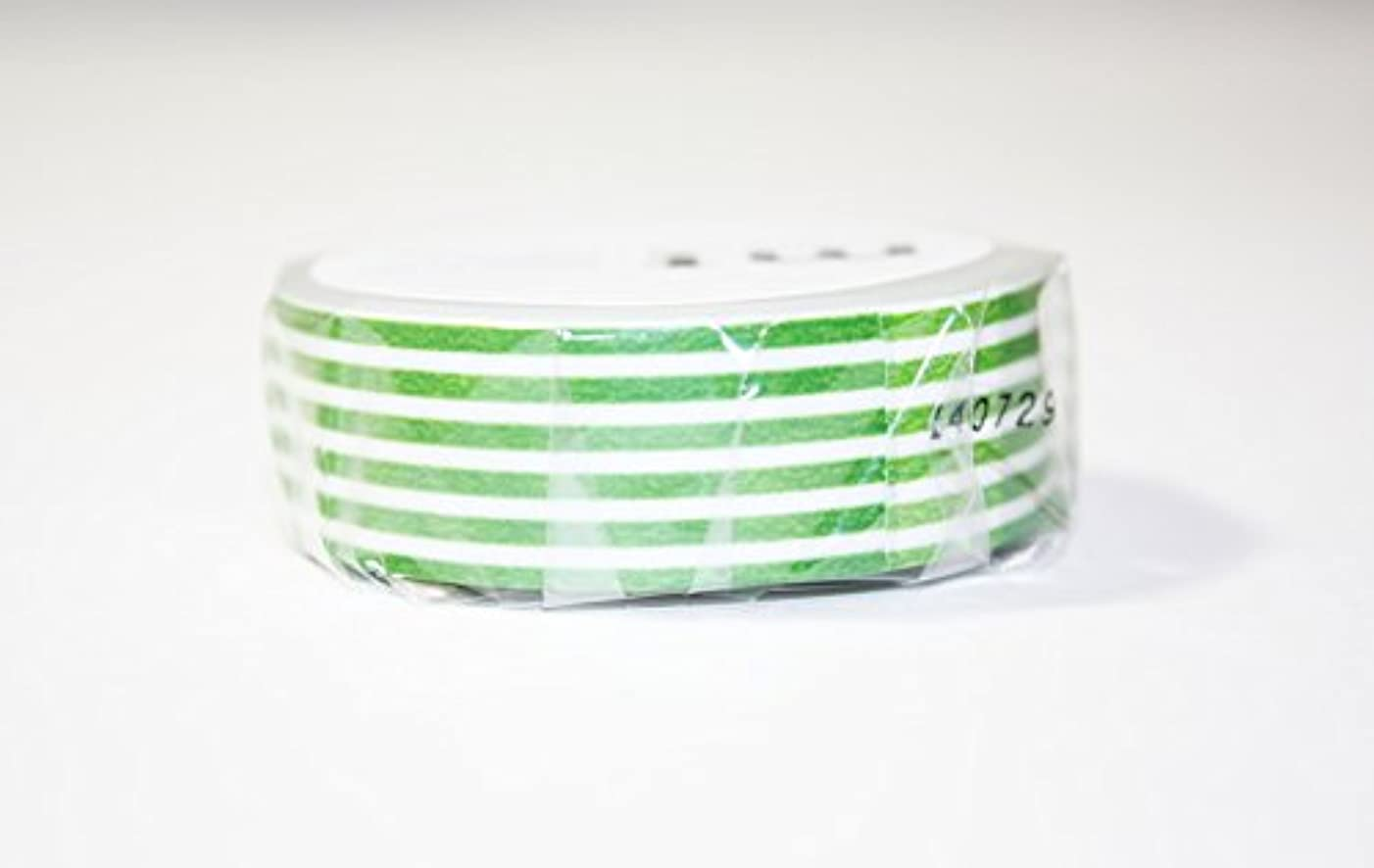 MT Washi Masking Tape, 1P Deco, 15mm x 10m, Border Light Green (MT01D258)
